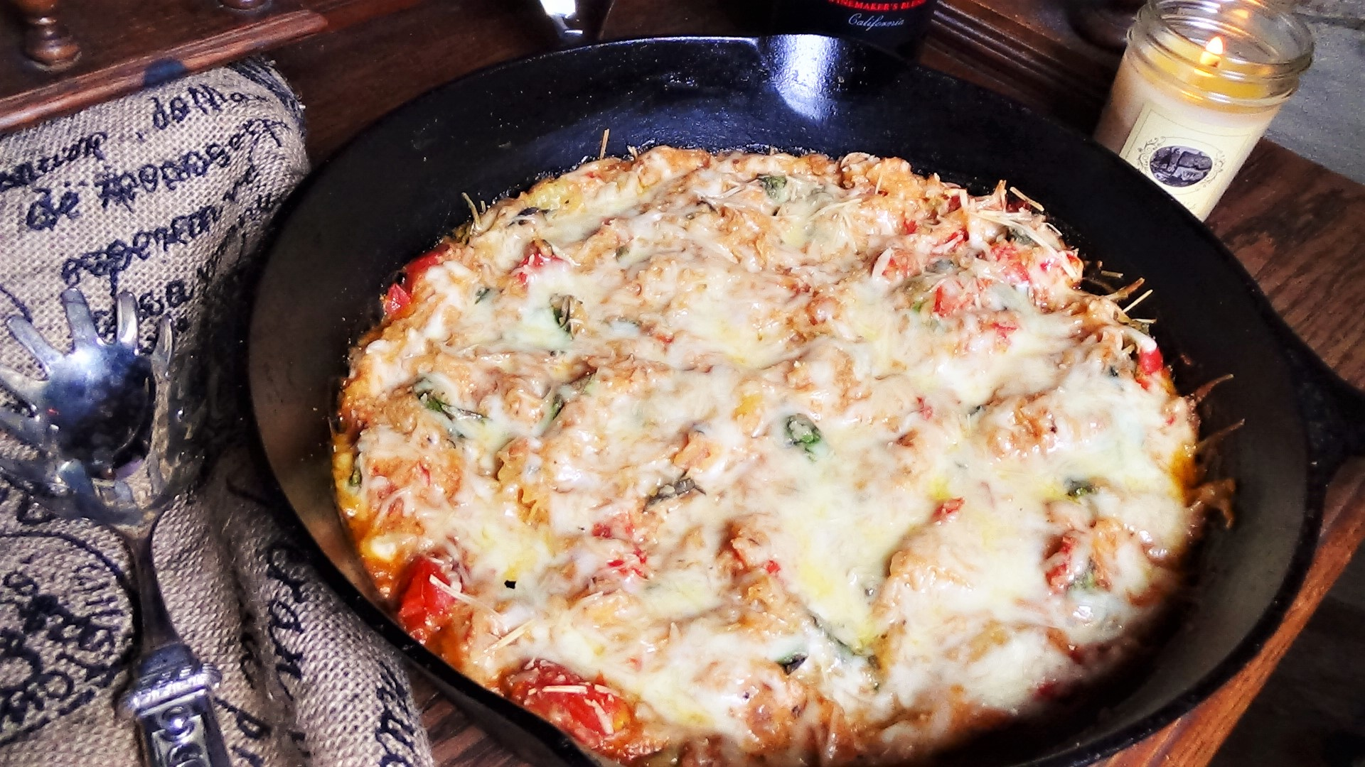 Spaghetti Squash with fresh tomatoes, spinach and ricotta