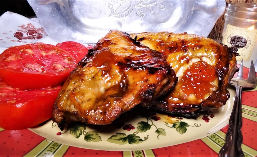 Grilled Apricot Glazed Chicken Breasts