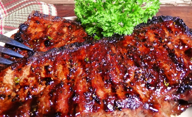 Treacle Glazed Strip Steaks