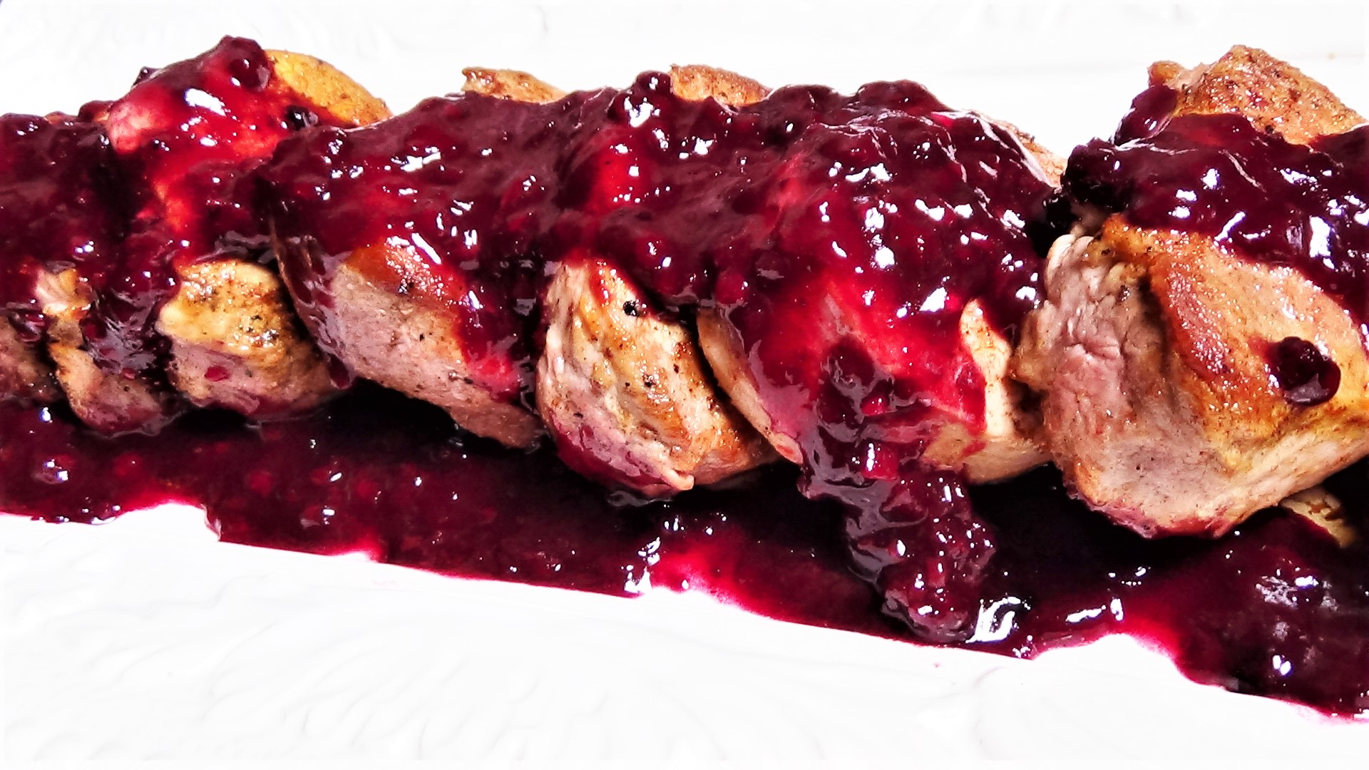 Medallions of Pork with Blackberry Sauce