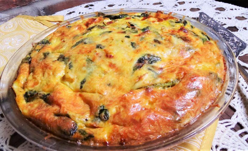 Artichoke, Spinach & Sun-dried Tomato Quiche