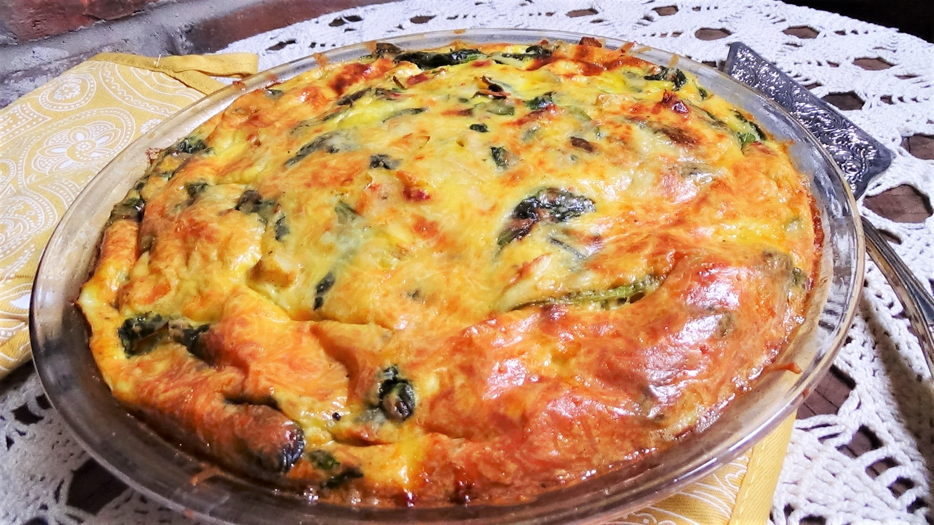 Artichoke, Spinach & Sun-dried Tomato Quiche