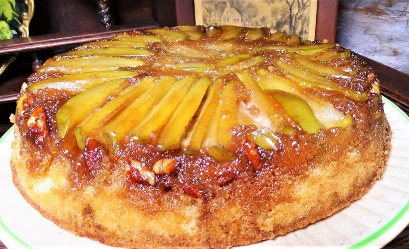 Apple, Maple, Upside-Down Cake