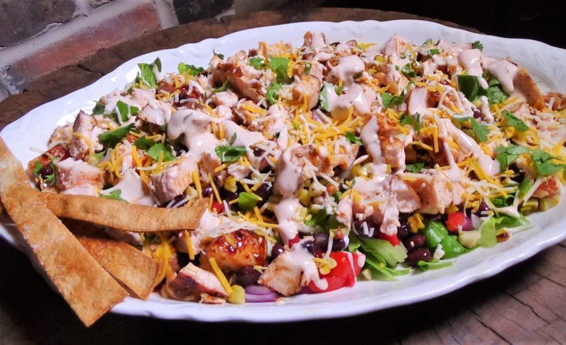 Chopped, BBQ, Chicken Taco Salad