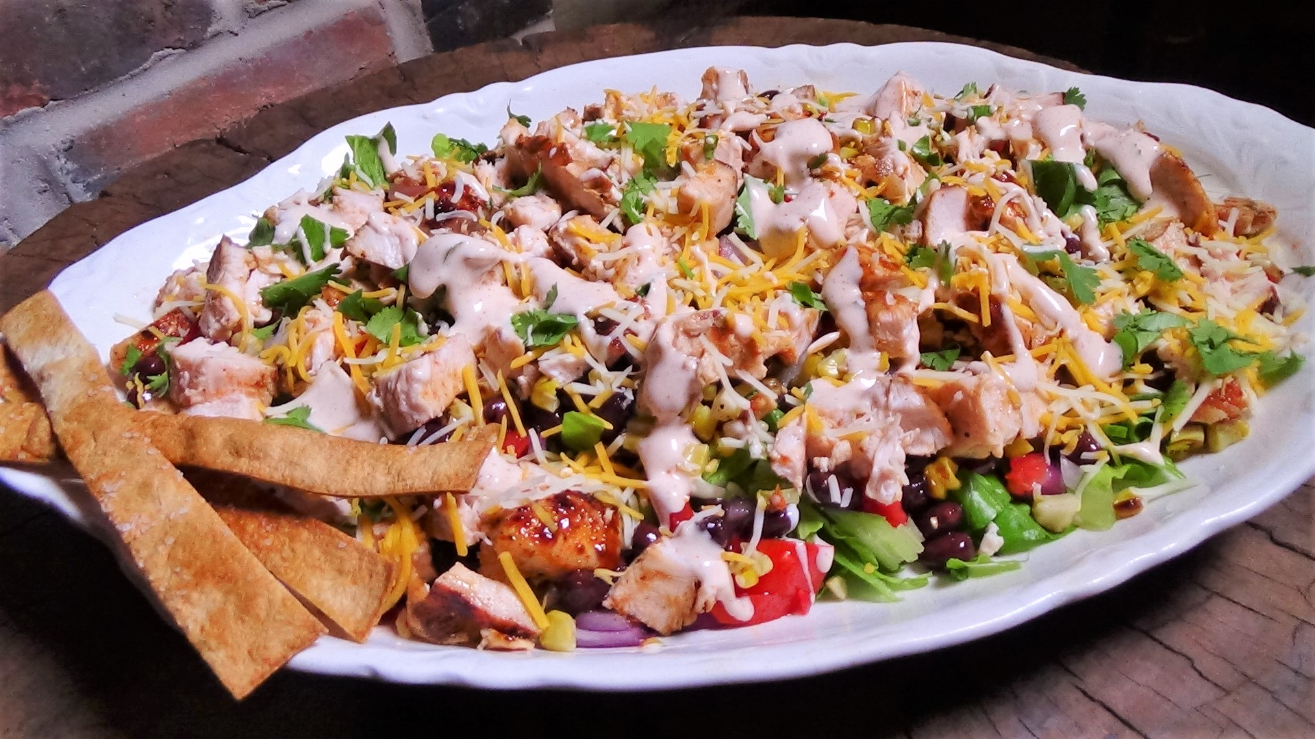 Chopped, BBQ, Chicken Taco Salad