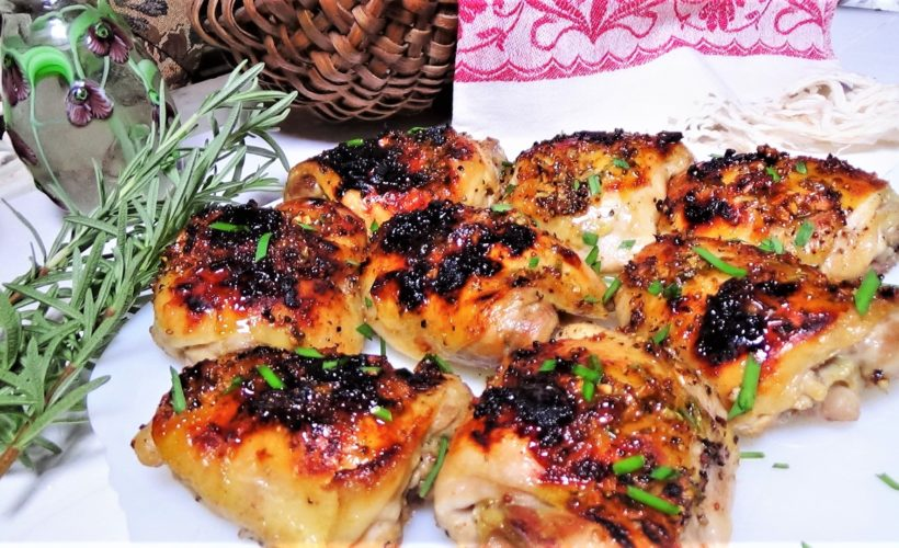 Baked, Maple, Dijon Chicken Breasts