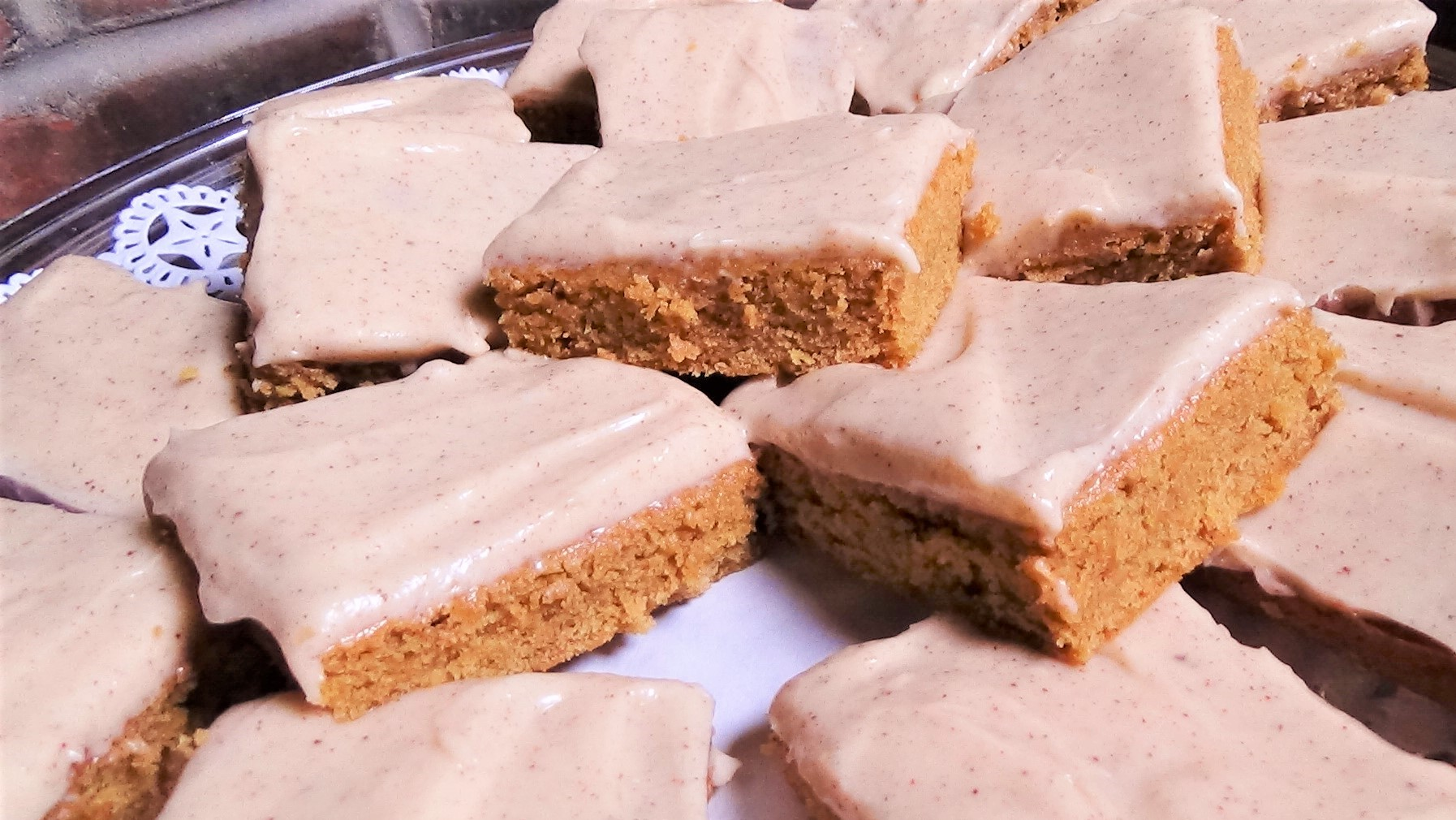 Cinnamon Blondies with Cream Cheese Frosting