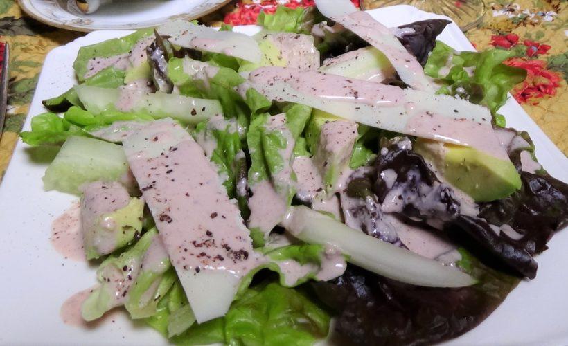 Avocado and Cucumber Salad with Ricotta Salata and Walnut Dressing
