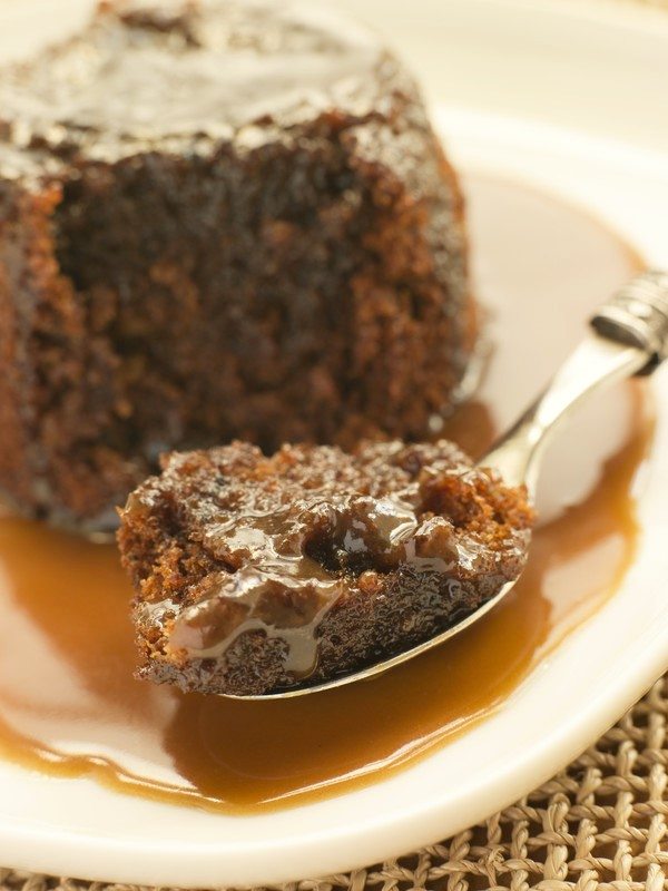 Warm Date Cake with Toffee Sauce